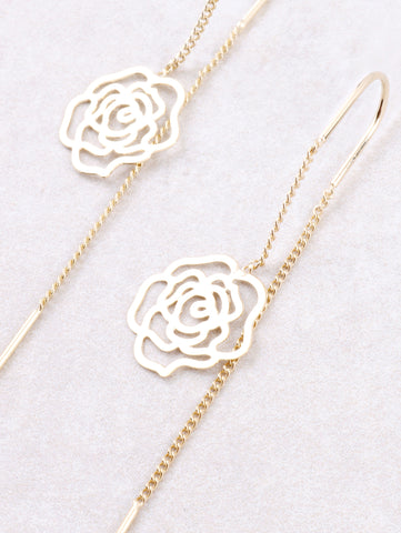 Rose Dangle Earring Anarchy Street Gold - Details