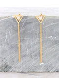 Tri Tasseled Drop Earring Anarchy Street Gold
