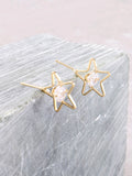 3D Star Earrings Anarchy Street Gold