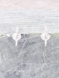 3D Star Earrings Anarchy Street Silver - Details