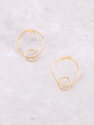 Intercepted Stud Earring Anarchy Street Gold