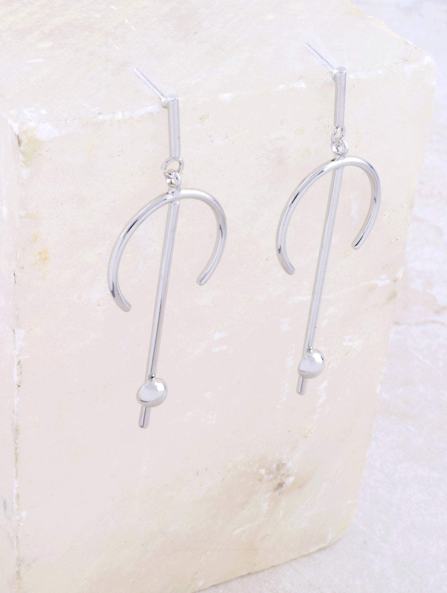Horn Bar Earring Anarchy Street Silver