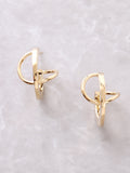 Twisted Stud Earring Anarchy Street Gold - Details