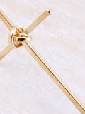 Tied Cross Earring Anarchy Street Gold - Details