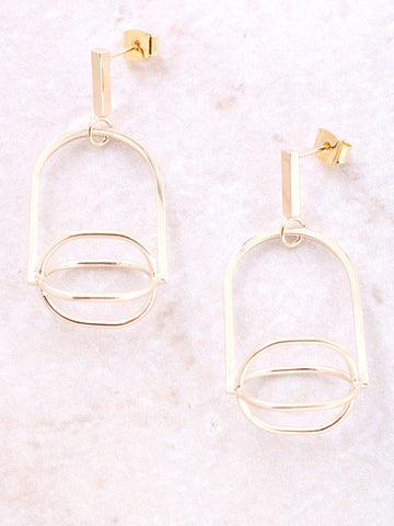 Windmill Drop Earring