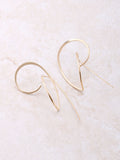 Curved Up Earring Anarchy Street Gold