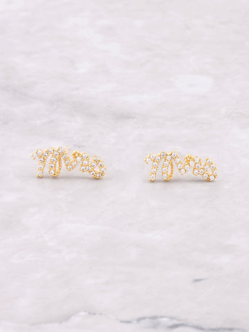 Pave Mrs Earring