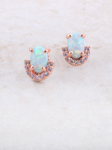 Halographic Opal Earring