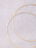 Oversized Hoop Earrings Anarchy Street Gold - Details