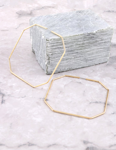 Octagon Hoop Earrings Anarchy Street Gold