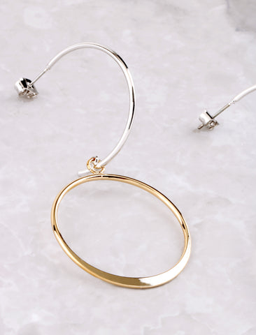Open Curve Earring Anarchy Street Gold - Details
