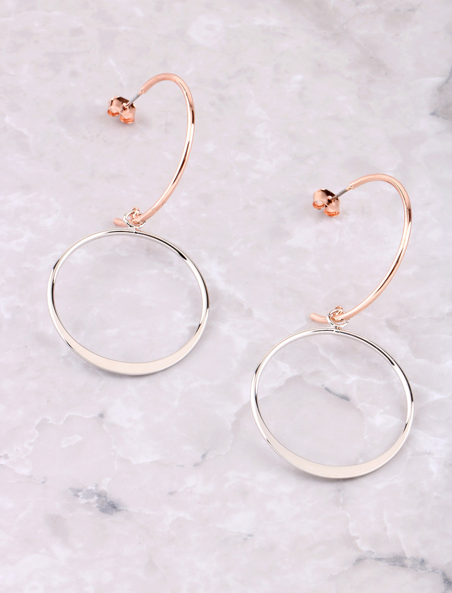 Open Curve Earring Anarchy Street Rosegold