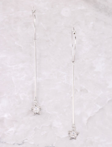 Shooting Star Drop Earring Anarchy Street Silver