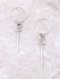 Double Loop Drop Earring Anarchy Street Silver