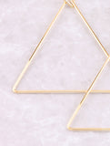 Triangle Hoop Earring Anarchy Street Gold - Details