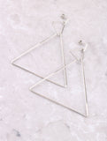 Triangle Hoop Earring Anarchy Street Silver