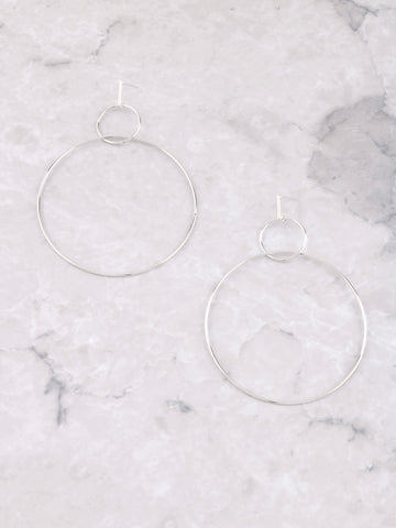 Double Loop Hoop Earring Anarchy Street Silver