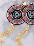 Patch Chain Earrings Anarchy Street Pink - Details