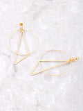 Geometric Drop Earrings Anarchy Street Gold