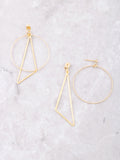 Geometric Drop Earrings Anarchy Street Gold - Details
