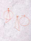 Geometric Drop Earrings Anarchy Street Rosegold - Details