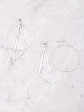 Geometric Drop Earrings Anarchy Street Silver - Details