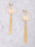 Chain Tassel Loop Earring Anarchy Street Gold