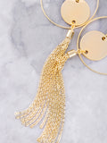 Chain Tassel Loop Earring Anarchy Street Gold - Details