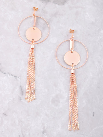 Chain Tassel Loop Earring Anarchy Street Rosegold