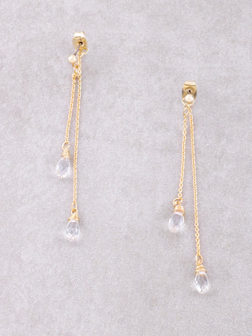 Crystal Drop Earrings Anarchy Street Clear