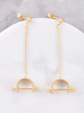 Barbell Chain Earrings Anarchy Street Gold