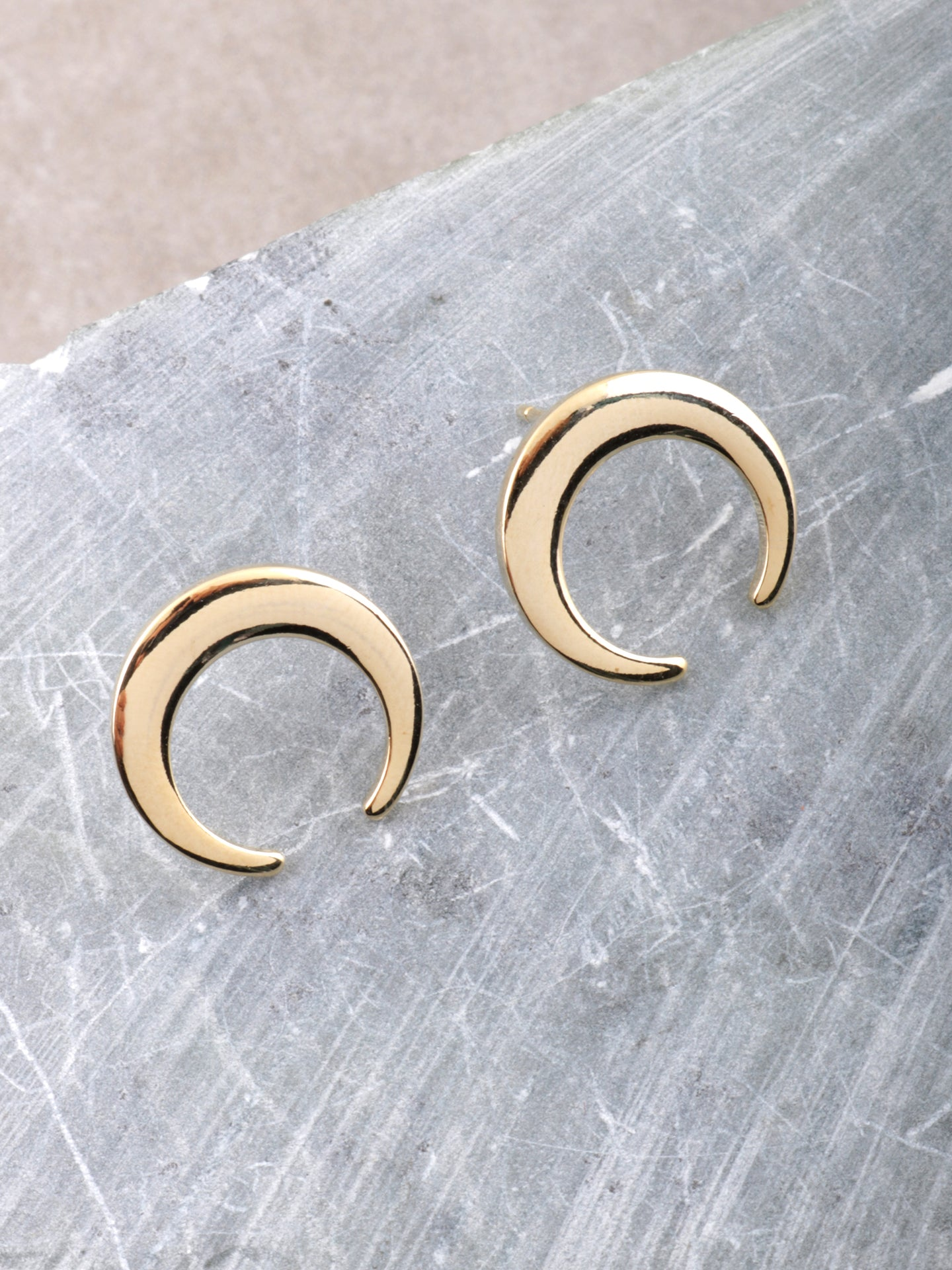 Crescent Stud Earrings