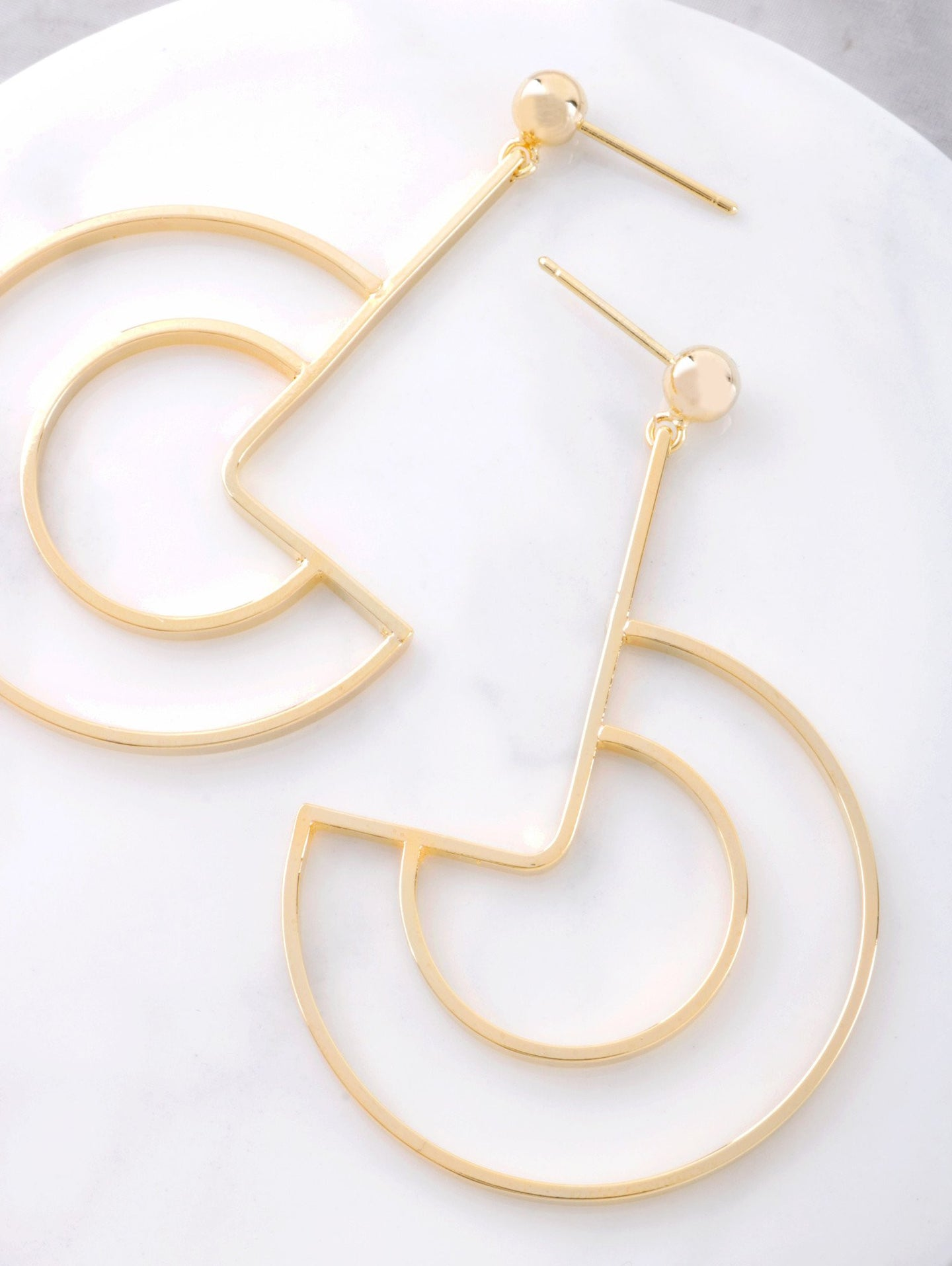 Geo Curve Earrings Anarchy Street Gold