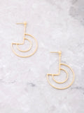 Geo Curve Earrings Anarchy Street Gold - Details