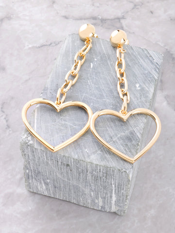 Heart Breaker Dangle Earrings Anarchy Street Gold