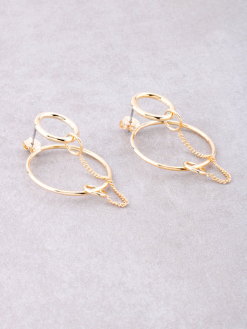 Loop Chain Earrings Anarchy Street Gold