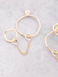 Loop Chain Earrings Anarchy Street Gold - Details