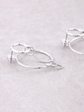 Loop Chain Earrings Anarchy Street Silver - Details