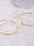 Swirl Earrings Anarchy Street Gold - Details