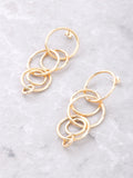 Intersecting Rings Earrings Anarchy Street Gold