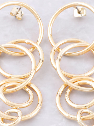 Intersecting Rings Earrings Anarchy Street Gold - Details