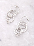 Intersecting Rings Earrings Anarchy Street Silver