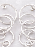 Intersecting Rings Earrings Anarchy Street Silver - Details