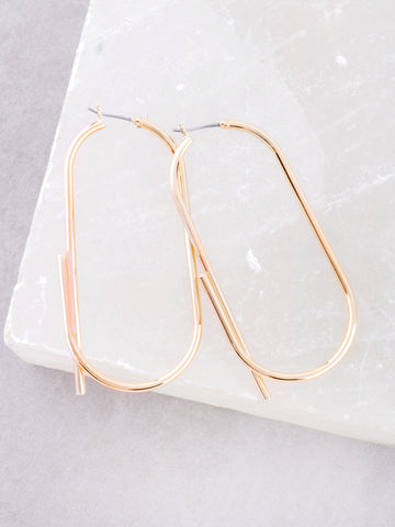 Oblong Earrings Anarchy Street Gold