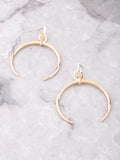Crescent Horn Earrings Anarchy Street Gold