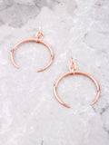 Crescent Horn Earrings Anarchy Street Rosegold