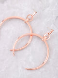 Crescent Horn Earrings Anarchy Street Rosegold - Details
