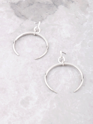 Crescent Horn Earrings Anarchy Street Silver
