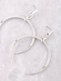 Crescent Horn Earrings Anarchy Street Silver - Details