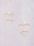Love Me Heart Earrings Anarchy Street Gold